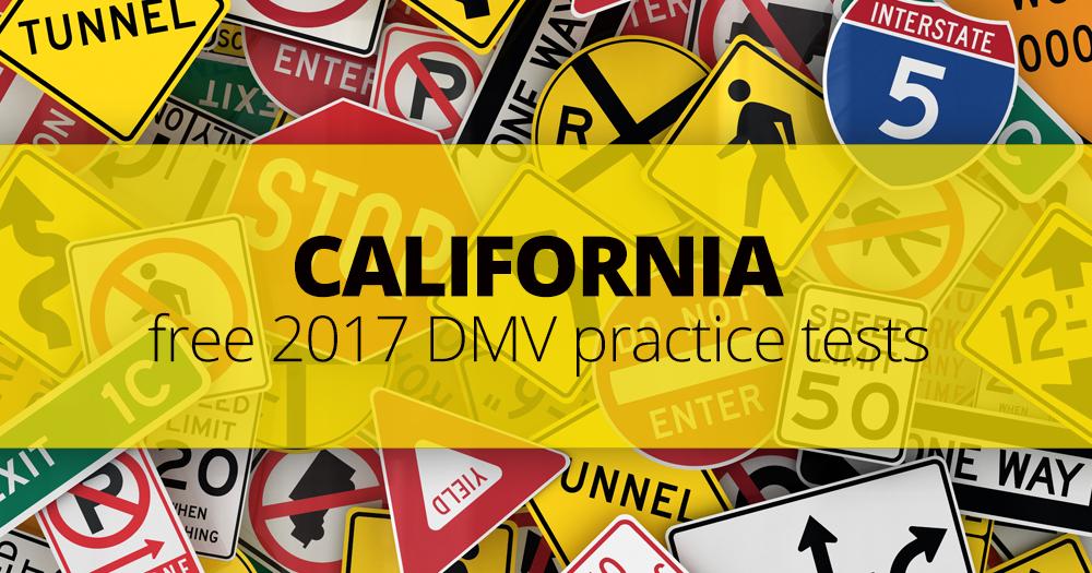FREE California DMV Permit Practice Test (CA) 2017