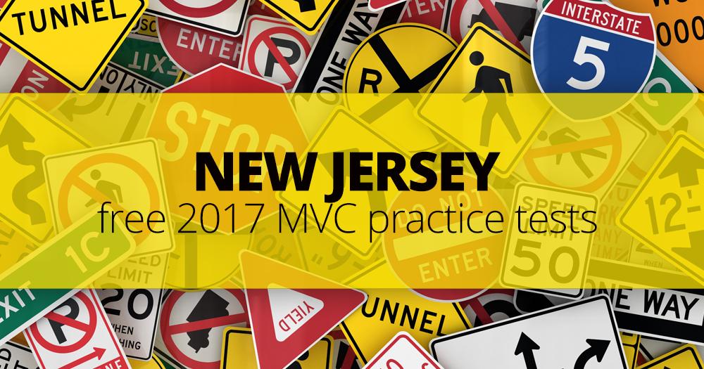 FREE New Jersey MVC Practice Permit Test (NJ) 2017