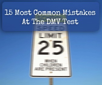 dmv test 15 common mistakes to avoid. Black Bedroom Furniture Sets. Home Design Ideas