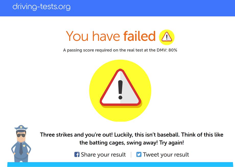 failed practice test