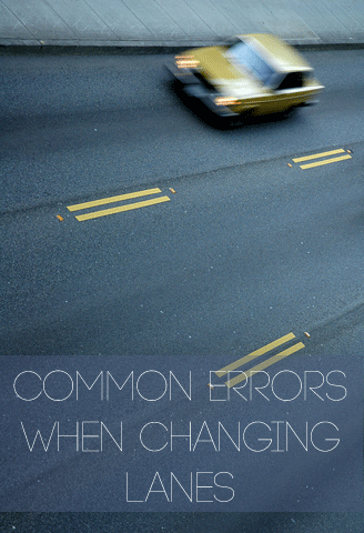 Common Errors When Changing Lanes