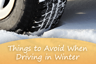Things to Avoid When Driving in Winter