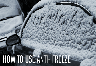 How to Use Anti- Freeze