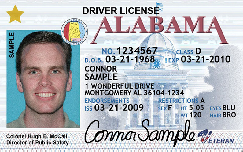 driver's license in Alabama
