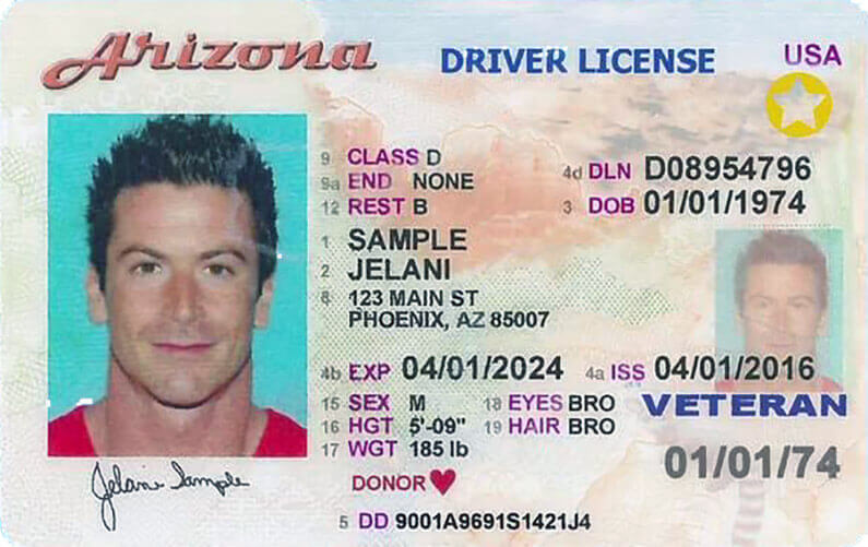 driver's license in Arizona