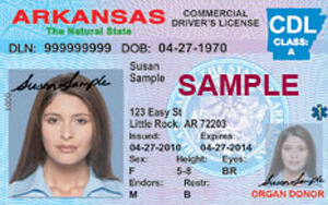 AR commercial driver's license