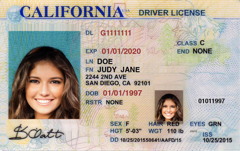 CA DMV driver's license California DMV Driver's License.