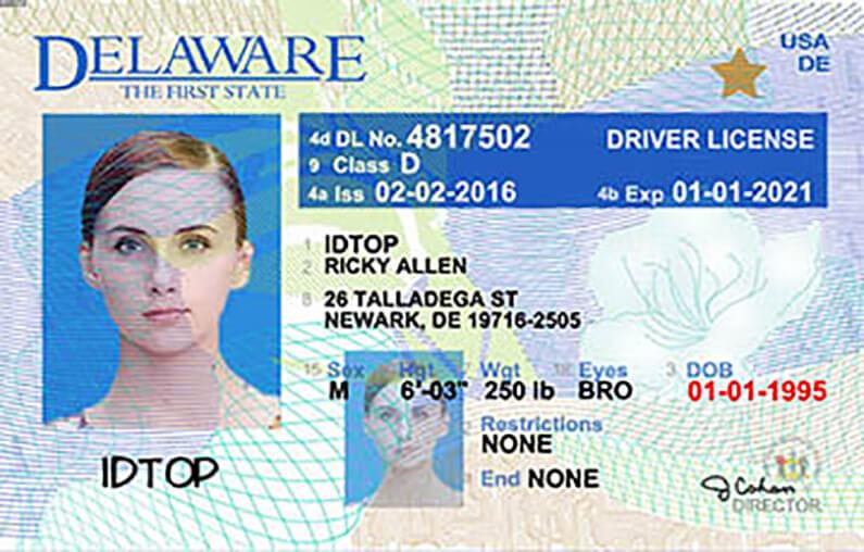driver's license in Delaware