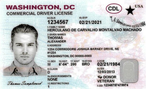 DC commercial driver's license