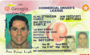 GA commercial driver's license