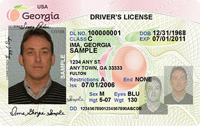 GA DDS driver's license
