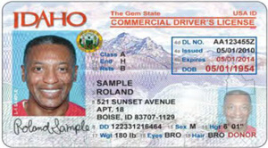 ID commercial driver's license