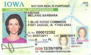 IA commercial driver's license