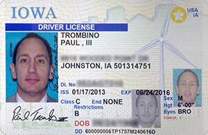 IA DOT driver's license
