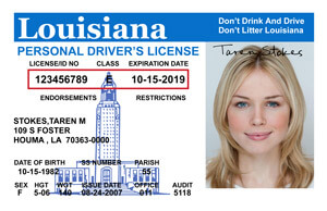 driver's license in Louisiana
