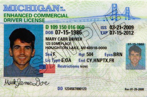 MI commercial driver's license
