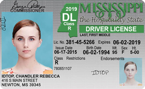 MS DPS driver's license
