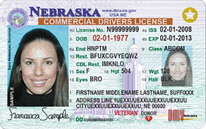 NE commercial driver's license