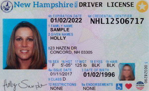 driver's license in New Hampshire
