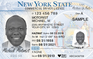 NY commercial driver's license
