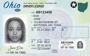 driver's license in Ohio