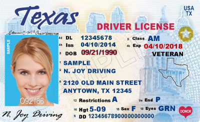 Texas dept of motor vehicles driver s license for Wisconsin drivers license template