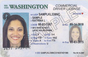 WA commercial driver's license
