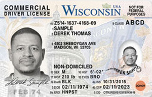 WI commercial driver's license