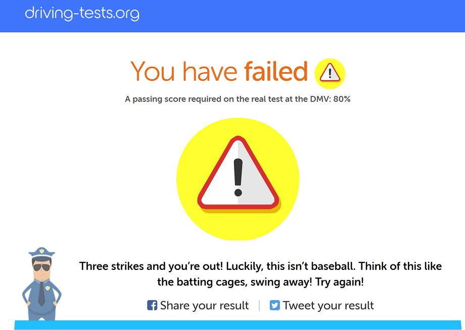 failed practice test