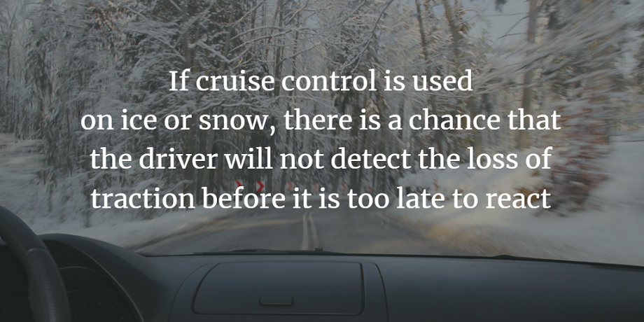 cruise control in winter