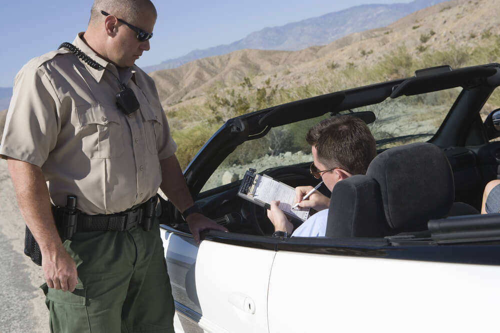 signing a traffic ticket