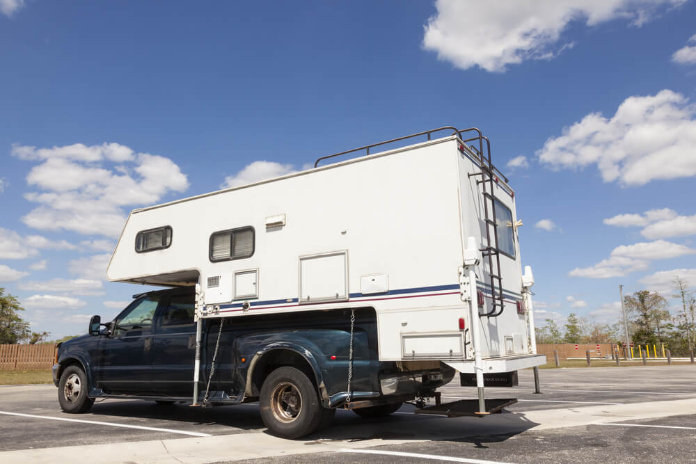 truck with camper