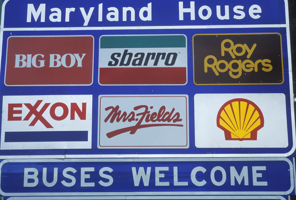 fuel and food sign
