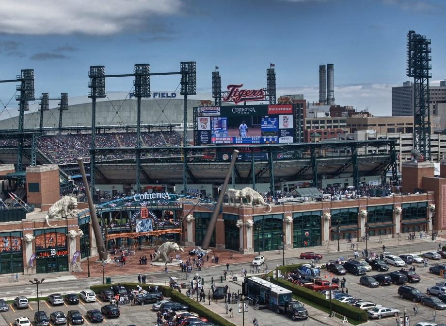 stadium parking lot