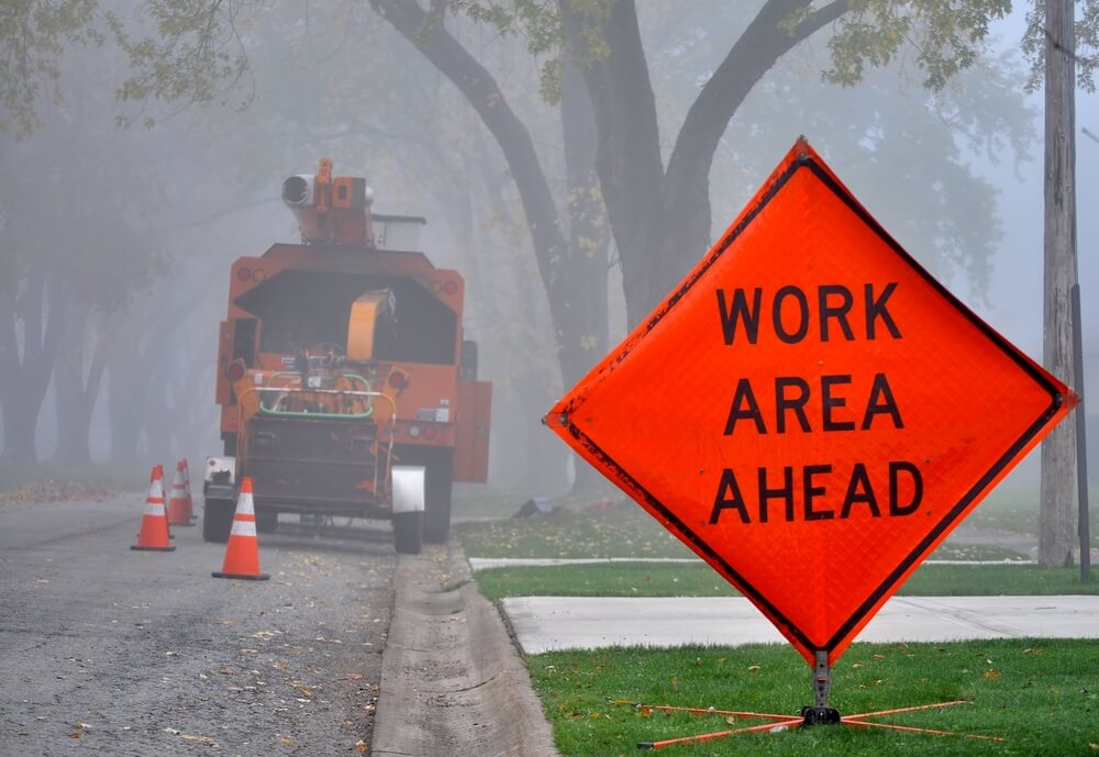work zone ahead