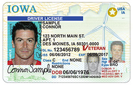 driver's license in Iowa