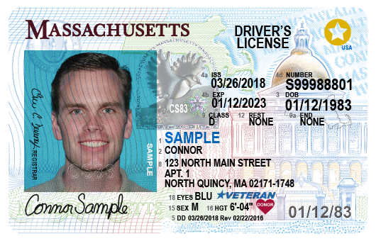 driver's license in Massachusetts