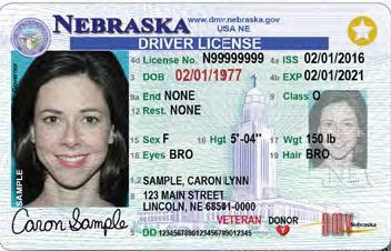 driver's license in Nebraska